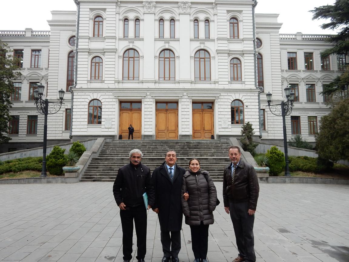 Professor Merab, Professor Guzran Belli, Professor Oktay Belli, Philip Williams
